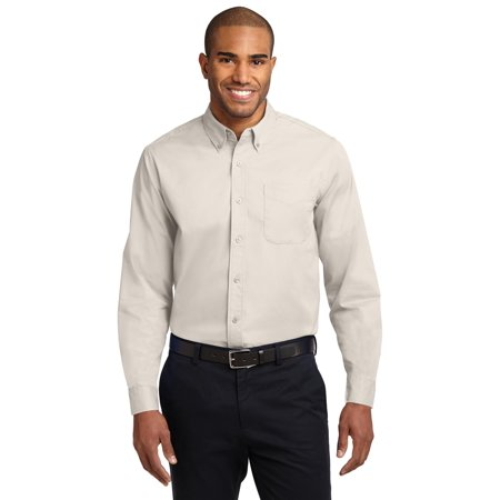Port Authority® Extended Size Long Sleeve Easy Care Shirt.   S608es Light Stone/ - image 1 of 1