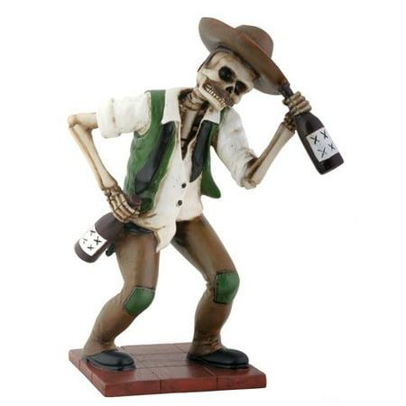 El Boracho Drunk Western Skeleton Day of the Dead Dia de Los Muertos Figurine