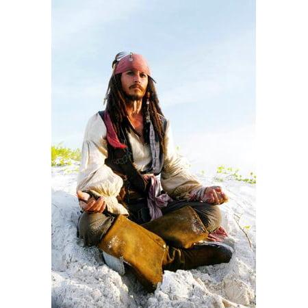 Johnny Depp Poster meditating Capt jack sparrow Pirates Caribbean - Capt Jack Sparrow