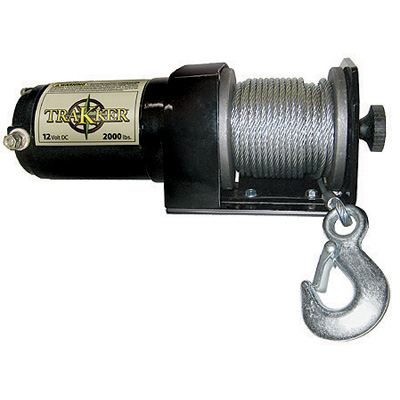"Keeper KT2000 Winch, 12 Volt, 2000 lb Single Line Rated Pull, Power In and Out, Hand Held Remote, 50' x 5/32"" Wire"