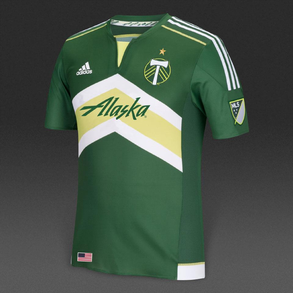 Adidas Portland Timbers MLS Men's Green Authentic Jersey - L