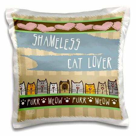 3dRose Bunch of Cats Kittens Pets Animals Cute Original Folk Art Painting, Pillow Case, 16 by 16-inch