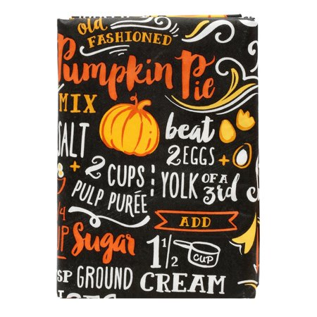 Vinyl PEVA Tablecloth Chalkboard Pumpkin Pie Recipe 52x70 Inches, Vinyl Surface For Easy Care By WMS Ship from US - Halloween Pumpkin Pie Recipe