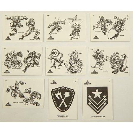 1998 Inkworks Small Soldiers Tattoo Card Set (9) - Puzzle Tattoos