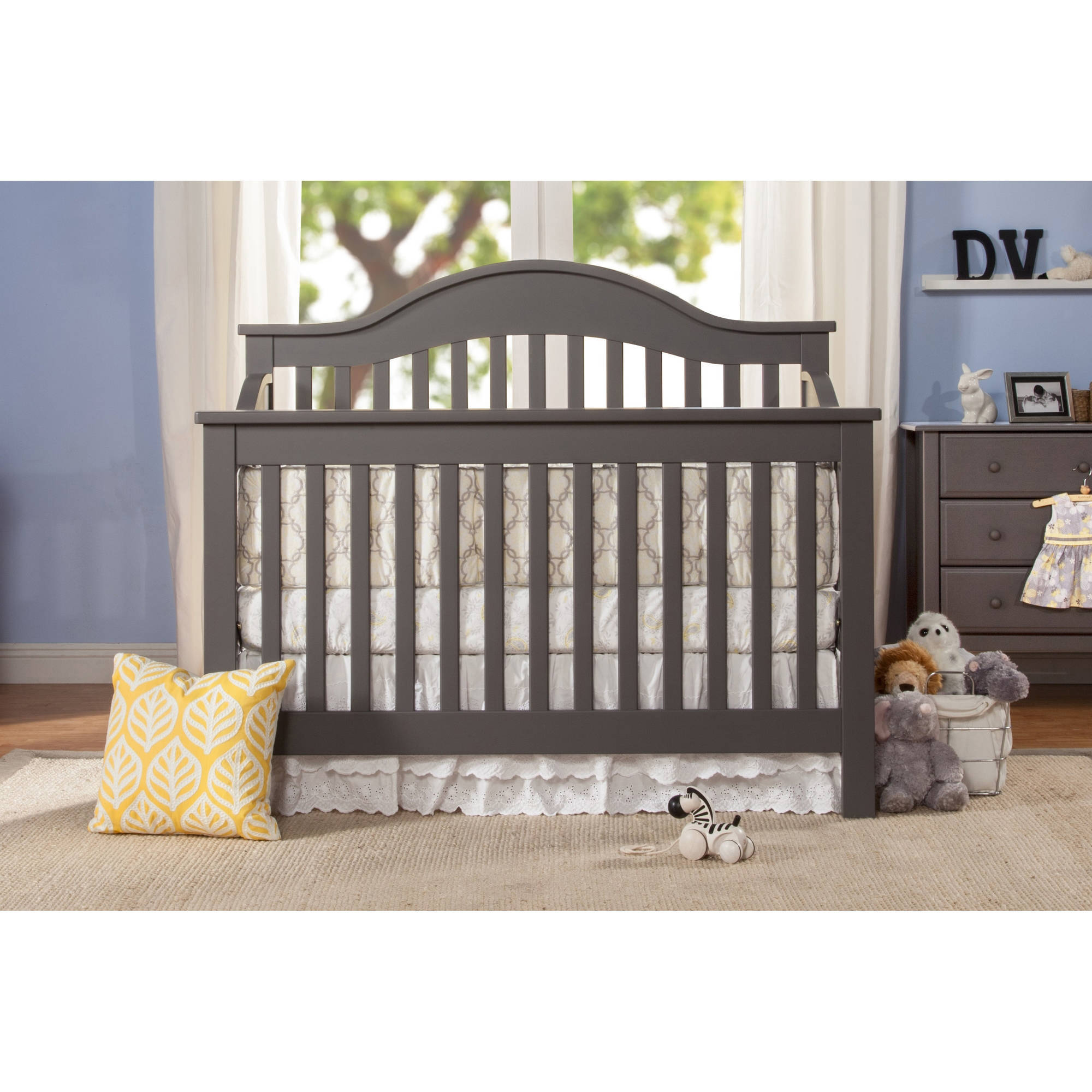 Crib Toddler Bed Combo Brixy Haven Upholstered Cottage