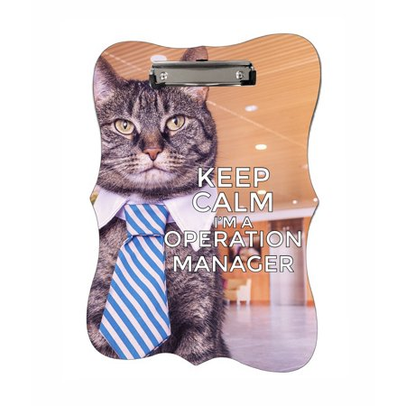 Keep Calm I'm an Operation Manager - Benelux Shaped 2-Sided Hardboard Clipboard - Dry Erase (Best Clipboard Manager 2019)