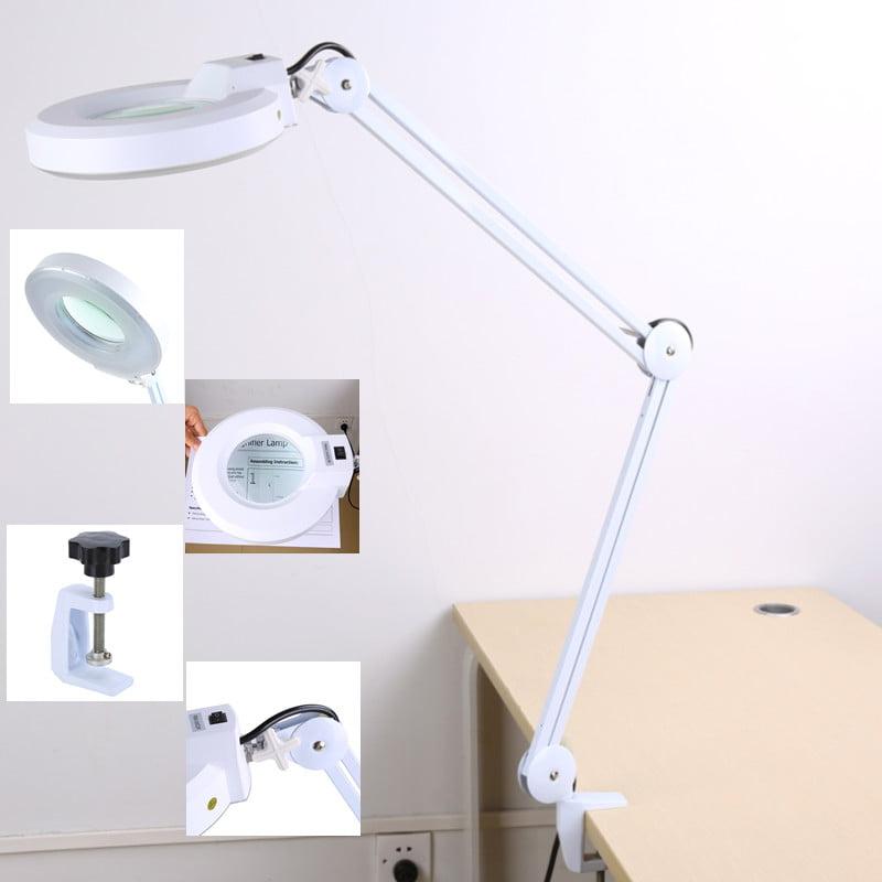 5x Led Desk Magnifier Lamp Table, Magnifier Desk Lamp