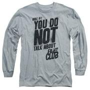 Fight Club - Rule 1 - Long Sleeve Shirt - Large