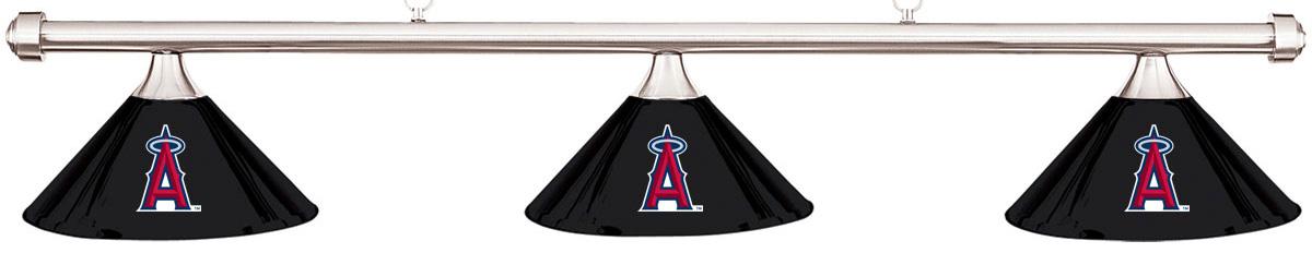 MLB LA Angels of Aneheim Black Metal Shade Chrome Bar Billiard Pool Table Light by Imperial International