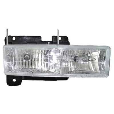 Go-Parts » 1988 - 2002 Chevrolet C3500 Front Headlight Headlamp Assembly Front Housing / Lens / Cover - (Brand: LKQ Platinum Plus) - (Base 5.7L, 6.5L, 7.4L Standard Cab Pickup + Base 5.7L, 6.5L,)