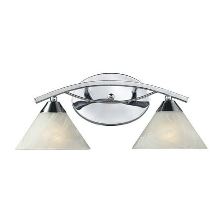 (ELK Lighting Elysburg 2-Light Bathroom Vanity Light 17021/2 - 18W in.)