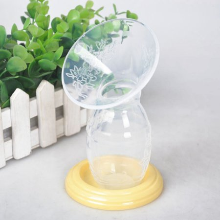 Silicone Manual Breast Pump Feeding Suction Bottle Milk Saver
