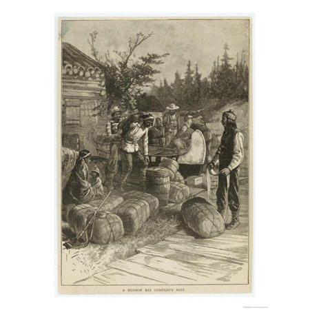 Trading Post of the Hudson's Bay Company Canada Print Wall Art](The Trading Company)