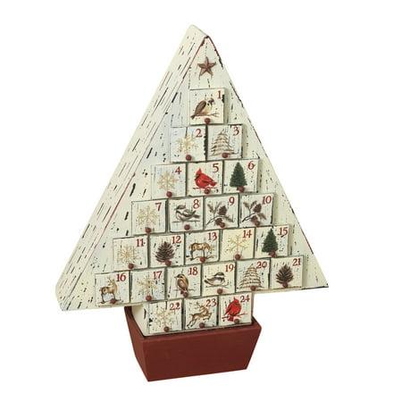 Rustic Wooden Christmas Tree Advent Calendar