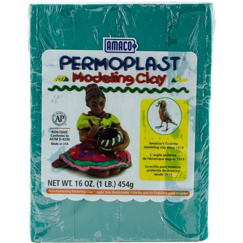 Permoplast Clay, 1lb, Green
