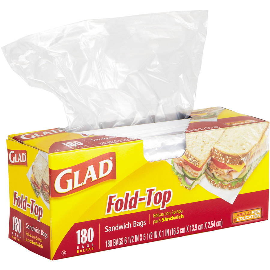 Glad Fold-Top Sandwich Bags, 180 count