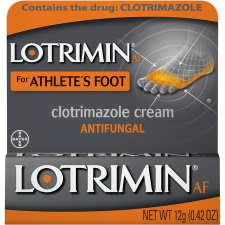 Lotrimin AF Athlete's Foot Antifungal Cream, 0.42 Ounce