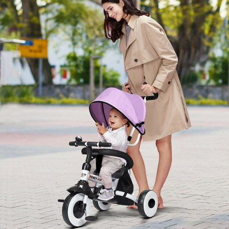 Gymax 4-In-1 Kids Baby Stroller Tricycle Detachable Learning Toy Bike - image 3 de 10