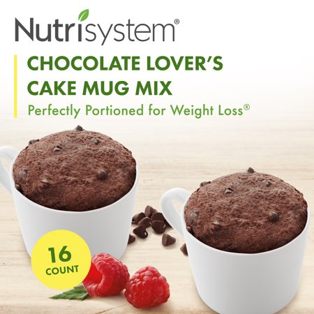 Nutrisystem Chocolate Lover's Cake Mug Mix (16 ct Case) - Delicious, Diet Friendly Snacks Perfectly Portioned for Weight