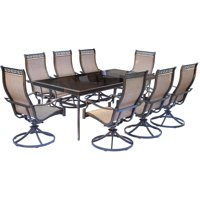 Carolina Factory Direct Wynn 9-Piece Dining Set with Eight Swivel Rockers and an Extra Long 42 In. x 84 In. Dining Table