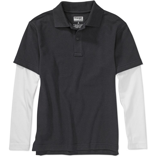 Boys' Long-Sleeve Hangdown Polo Shirt