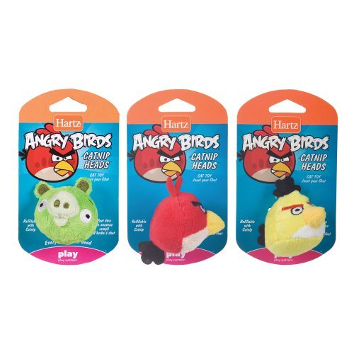 Hartz Assorted Angry Birds Catnip Heads Cat Toy