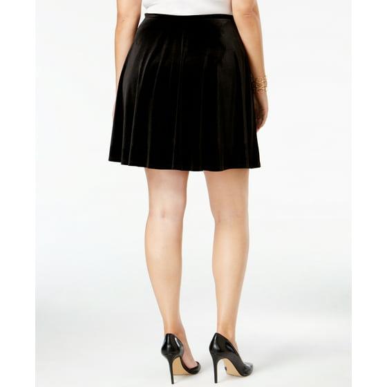 6e6dd5eadc0db Soprano - Soprano Women s Trendy Plus Size Velvet A-Line Skirt ...