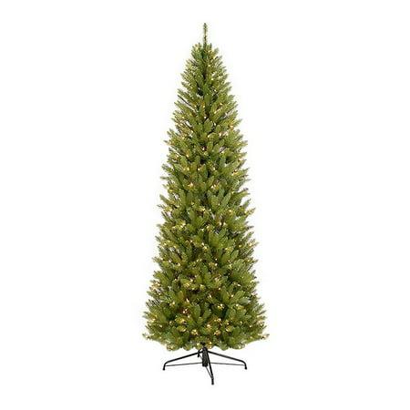 Pre-Lit Fraser Fir Pencil Artificial Christmas Tree 10' Frasier Fir Pencil