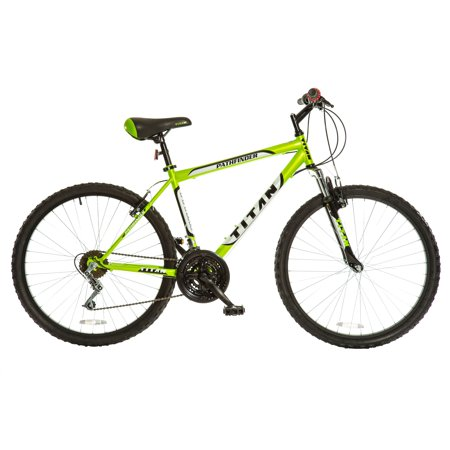 Titan Pathfinder Men's 18-Speed Suspension Mountain Bike, Keylime Green