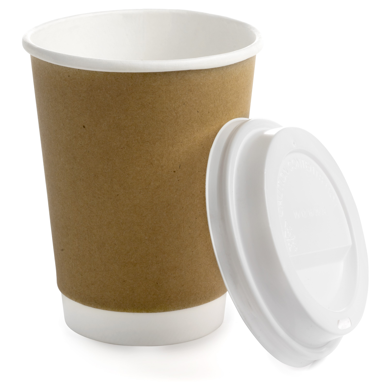 Earth's Natural Alternative Tan Combo Cups + Lids, 12oz, 300 Count
