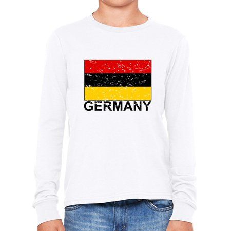 Germany Flag - Special Vintage Edition Girl's Long Sleeve T-Shirt Little German Girl
