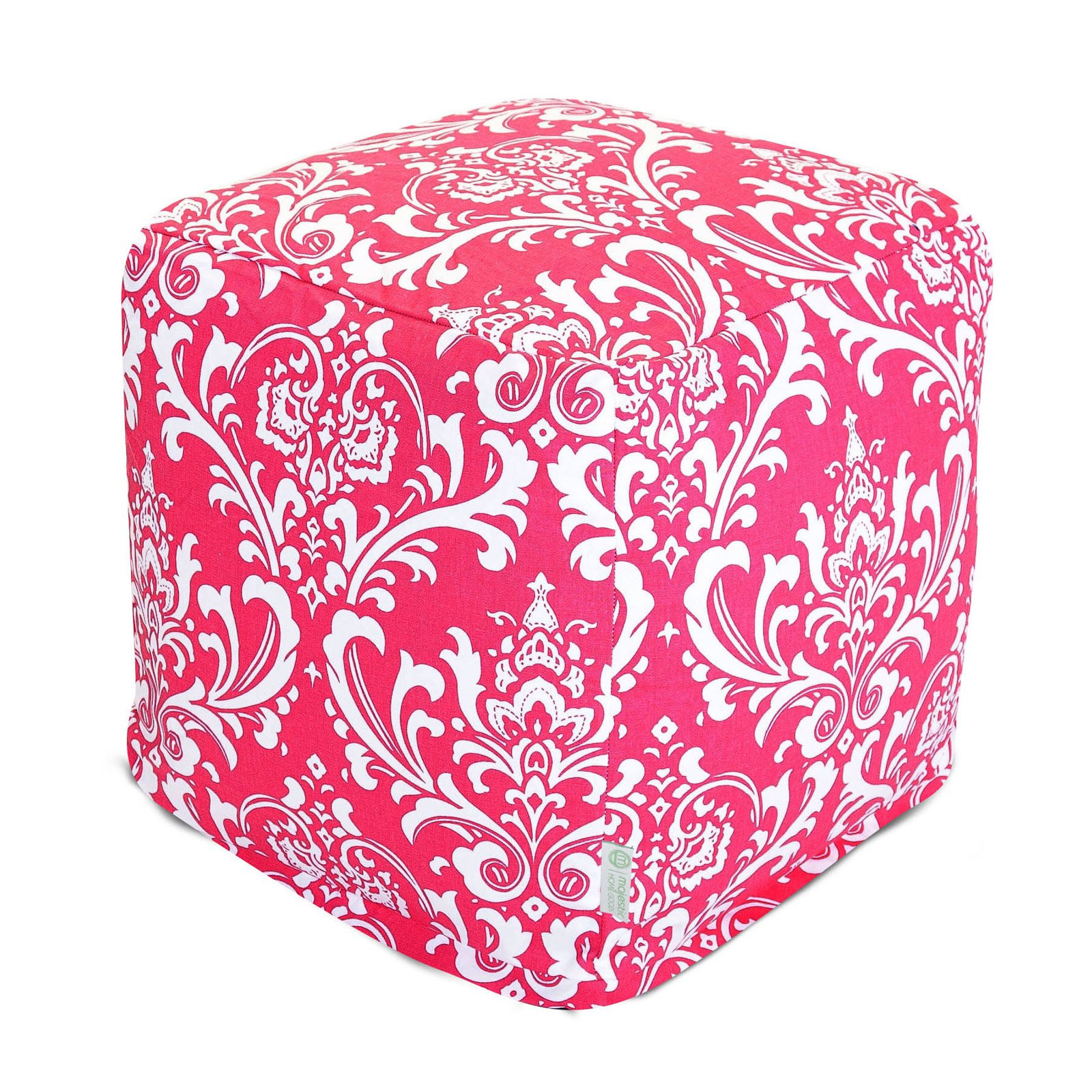 Majestic Home Goods Hot Pink French Quarter Bean Bag Cube