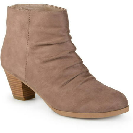 Women's Faux Suede Slouch High Heel Ankle - Faux Suede Slouch Boot