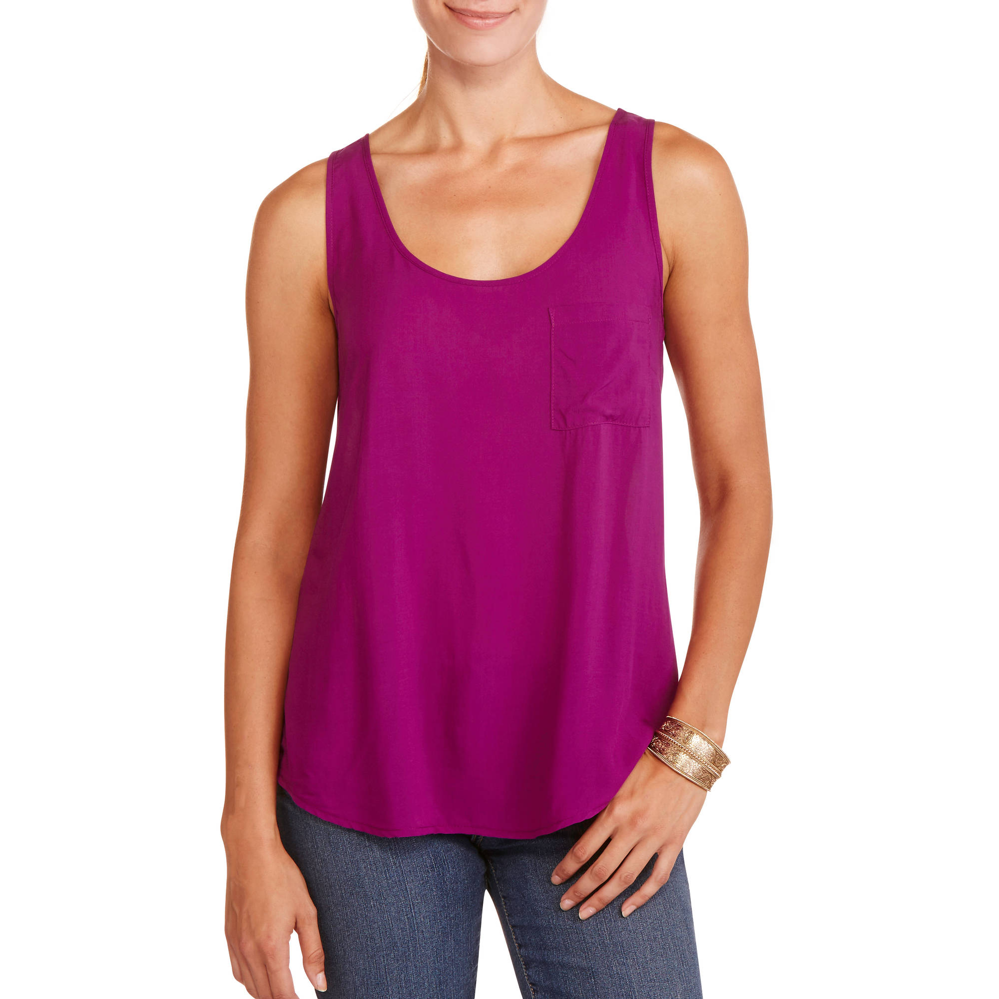 Faded Glory Women S Sleeveless Sweetheart Peasant Top With