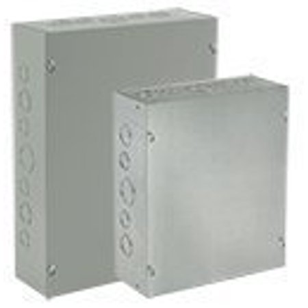 Hoffman ASE4X4X4 Pull Box, Screw Cover with Knockouts, Steel, 4