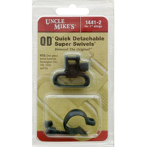 """Uncle Mike's 1441-2 Swivels for Remington M6/760 Bb Pumps, 1"""""""