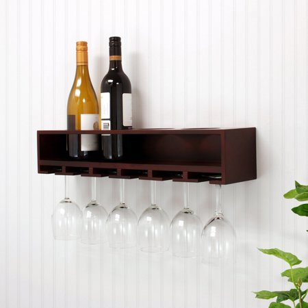 Az Trading Claret Espresso H Wine Bottle Amp Glass Holder Wall
