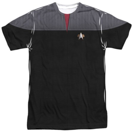 Star Trek TNG Movie Command Uniform (Front Back Print) Mens Shirt (Star Trek Tng Uniforms)