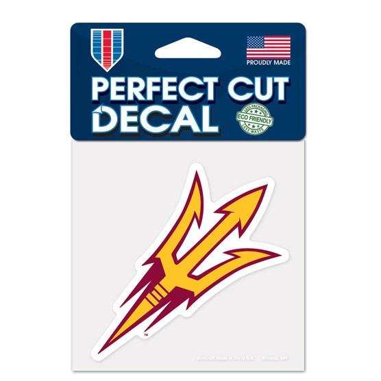 Arizona State Sun Devils Official NCAA 4 inch x 4 inch  Die Cut Car Decal by WinCraft