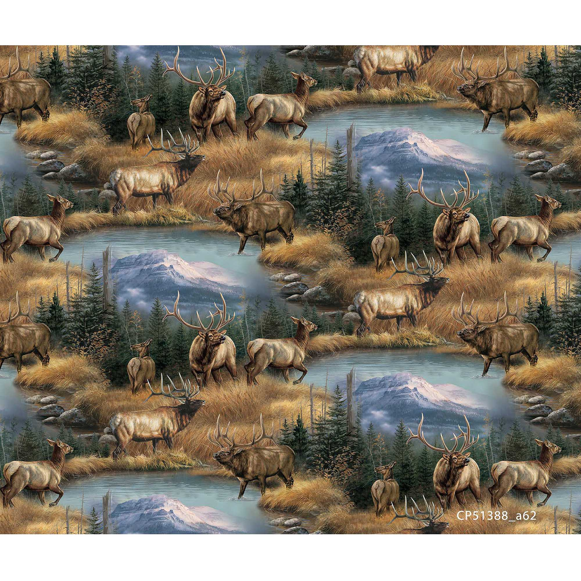 Springs Creative Wild Wings Brighton Fabric, Brighton Passage Scenic, Multicolor