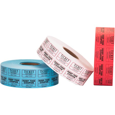 Pen+Gear Double Ticket Roll, 2000-count, Assorted Colors](Custom Roll Tickets)