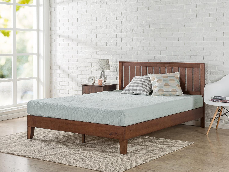 Zinus Vivek 12 Quot Deluxe Solid Wood Platform Bed With