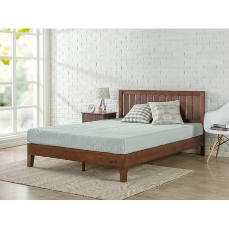 Zinus Vivek 12 Deluxe Solid Wood Platform Bed With Headboard Antique Espresso Multiple Sizes
