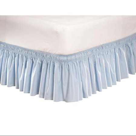 Wrap Around Bed Skirt, 14 Drop Dust Ruffle, Solid Color