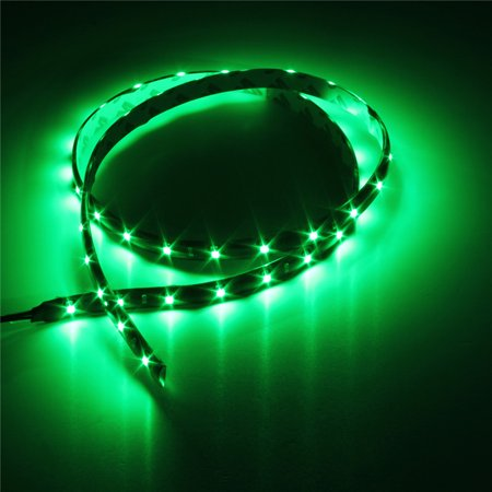 36 Inch Strip Fixture - 45-LED Strip Green 12V Flexible Self-Adhesive SMD 1210 3ft / 36-inch