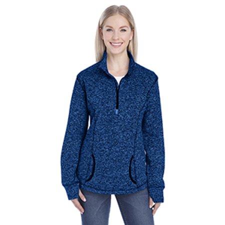 J America Ladies' Cosmic Fleece Quarter-Zip (Landscaping Hoodie)