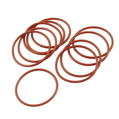 Unique Bargains 10 Pcs 38mm Outside Diameter 2mm Thickness Silicone O Ring Seal