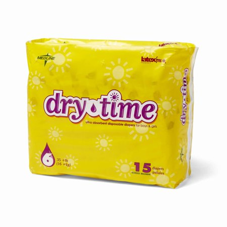 drytime disposable diapers sz 6