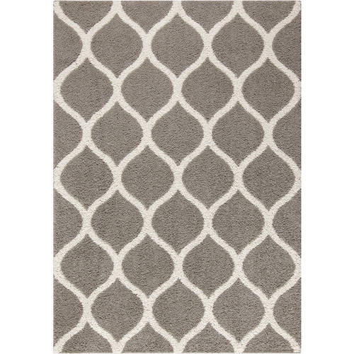 Mainstays Ogee 2-Color Shag Area Rug