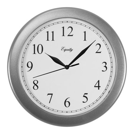 Equity by La Crosse 25206 10 Inch Basics Silver Quartz Wall clock